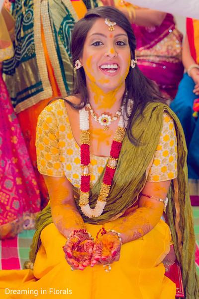 Stunning maharani in yellow dress