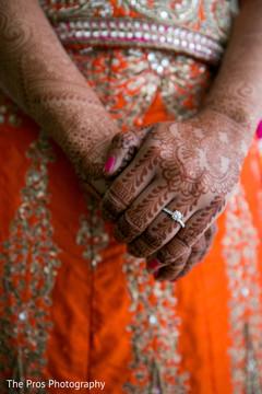 wedding ring,orange anarkali,indian wedding fashion