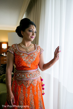 orange anarkali,indian fashion