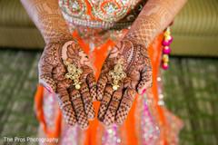 Beautiful indian bride earrings