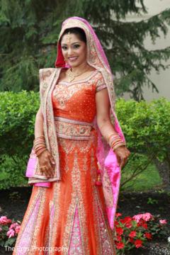 Indian bride first portrait