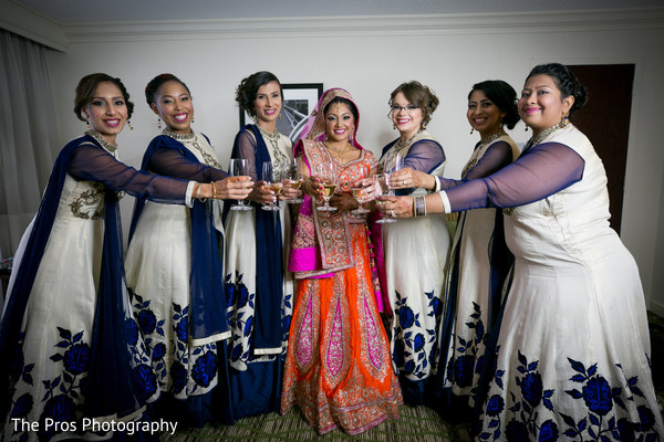 Marvelous portrait with indian bridesmaids