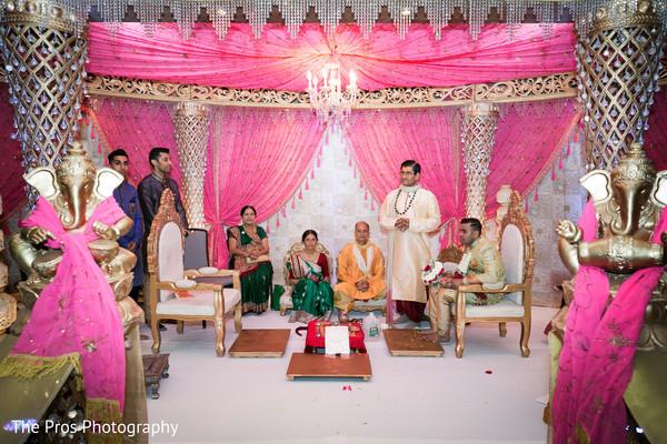 Beautiful indian wedding ceremony portrait