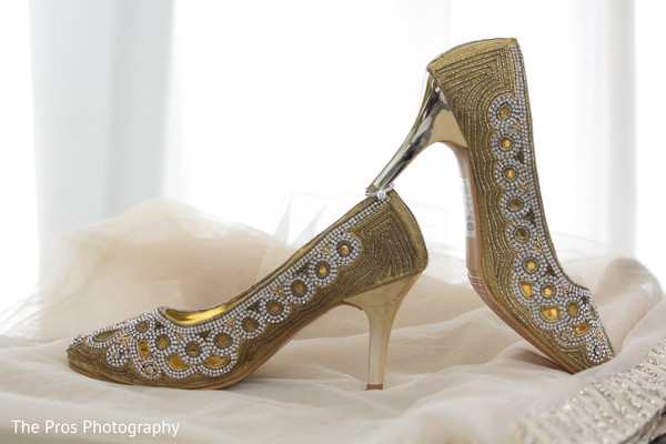 Dazzling indian bridal shoes