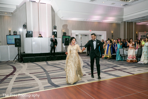 First dance with lovely indian couple