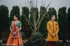 Indian bride and groom's pre-wedding photo session