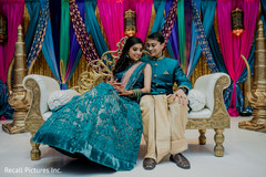 Indian couple's sangeet photo session
