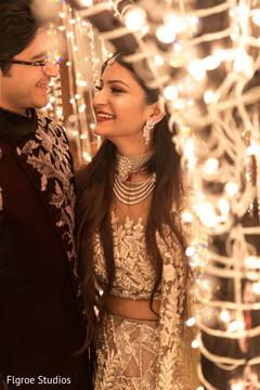 Romantic portrait of indian couple