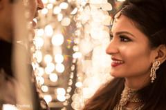 Indian bride smiling capture