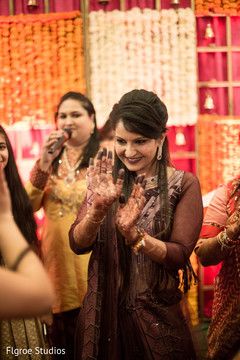 Lovely indian bride dancing