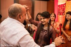 Bride dancing on indian celebration