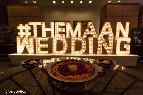 Beautiful indian wedding sign