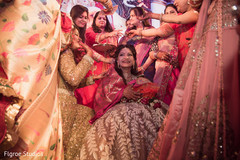 Indian bride during traditional celebration
