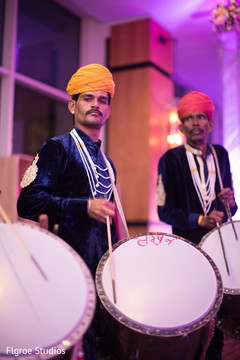 Dhol players performing