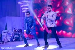 Indian wedding reception dancing photography