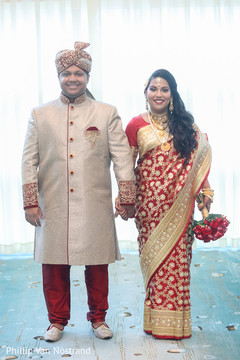 Cute indian bride and groom photography