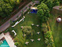 Stunning indian wedding venue aerial view