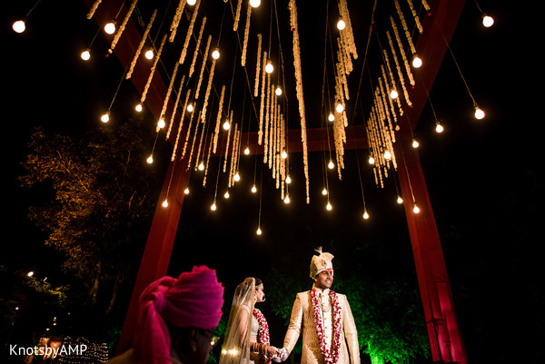 mandap,indian wedding decor,indian wedding lighting