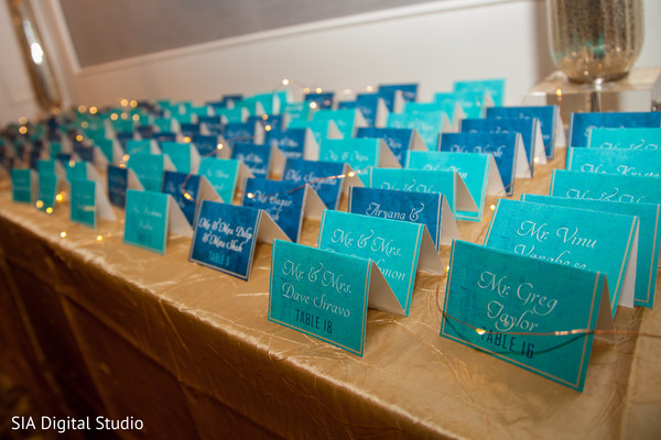 Indian wedding reception seating cards