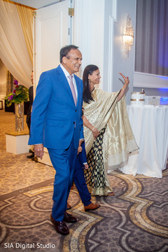 Glamorous indian wedding guests capture