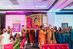 Indian bride's wonderful entrance