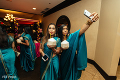 Beautiful turquoise saris