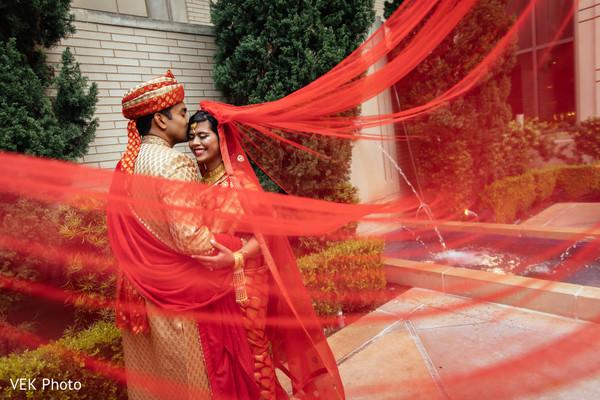 Creative indian couple portrait