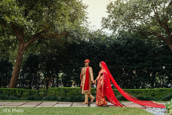 Outdoor indian wedding photo shoot