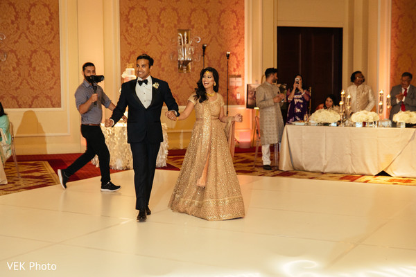 Indian newlyweds making their grand entrance
