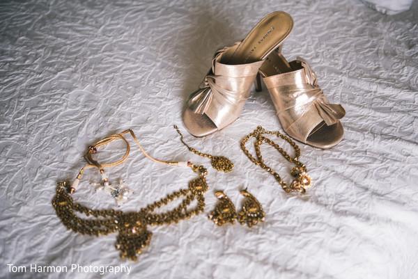 Indian bride jewelry set and heels