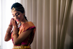 See this lovely indian bride getting ready