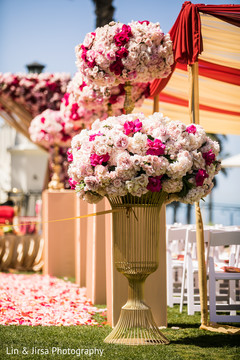 Awesome floral decor for wedding ceremony