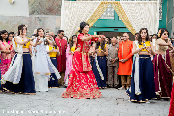 Indian bride with bridesmaids capture