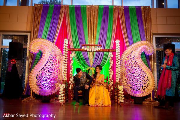 Indian couple enjoying their sangeet