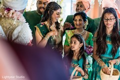 Lovely indian wedding flower girls