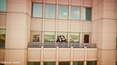 Indian couple in the venue's balcony