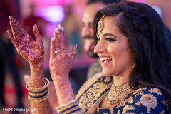 Adorable indian bride during sangeet