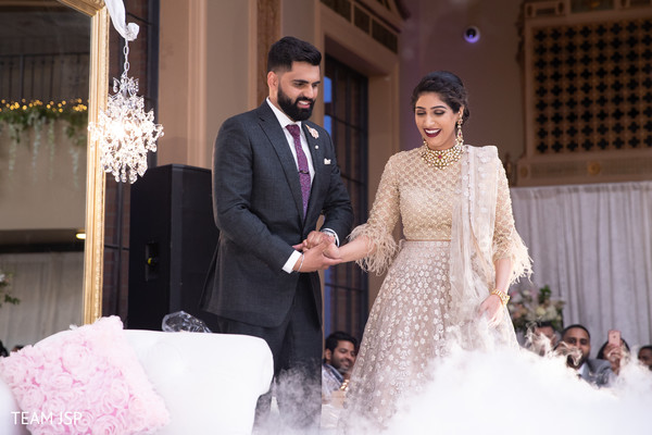 Adorable indian couple  making their entrance