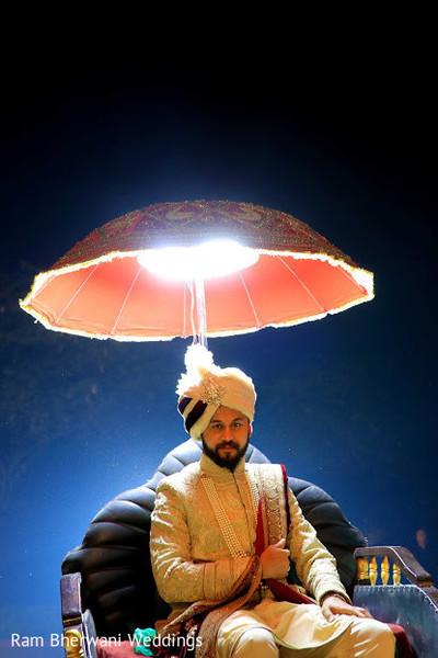 Indian groom posing for photoshoot