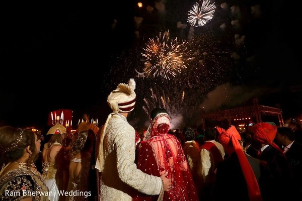 indian wedding ceremony,indian wedding ceremony photography,indian bride and groom,fireworks