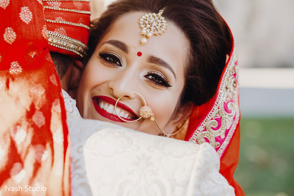 Glowing indian bride
