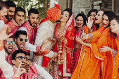 Fun indian bridal party capture