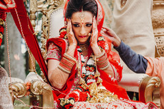 Indian bride during wedding traditions