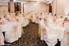 Indian wedding reception set up