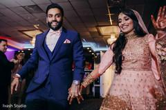 Indian newlyweds reception entrance
