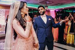 Indian couple fun reception performance