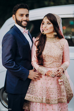 Indian couple looking perfect for their party