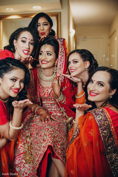 Lovely maharani with her bridesmaids