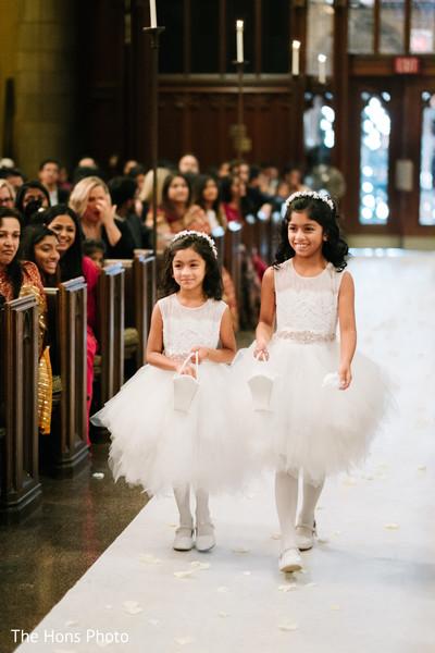 Beautiful girls on Catholic wedding