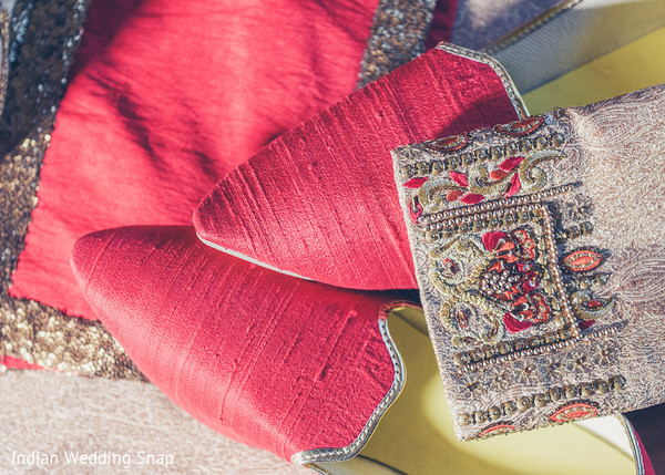 Indian groom's shoes capture